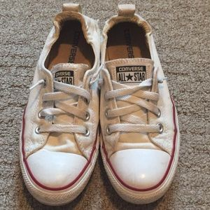 Converse white shoreside sneakers size 8